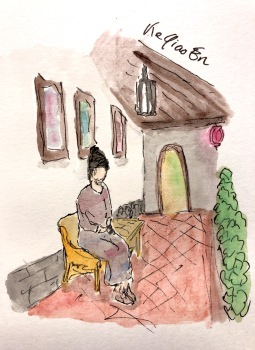 She the in patio of a Traditional House in Dihua Street © 2018, KeQiaoEn All Rights Reserved