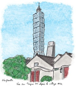 Taipei 101 and Village #44 in Xinyi 台北101大樓和四四南村 © 2018, KeQiaoEnAll Rights Reserved