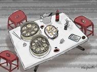 Dinner table at Yuan Yuan Xiao Long Tang Bao 圓圓小籠包 © 2018, KeQiaoEnAll Rights Reserved